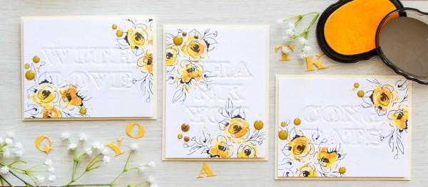 Technique: Letterpress Note Cards with Dies