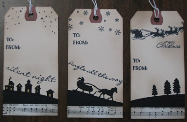 8 more Stamped Christmas Gift TagsStamping