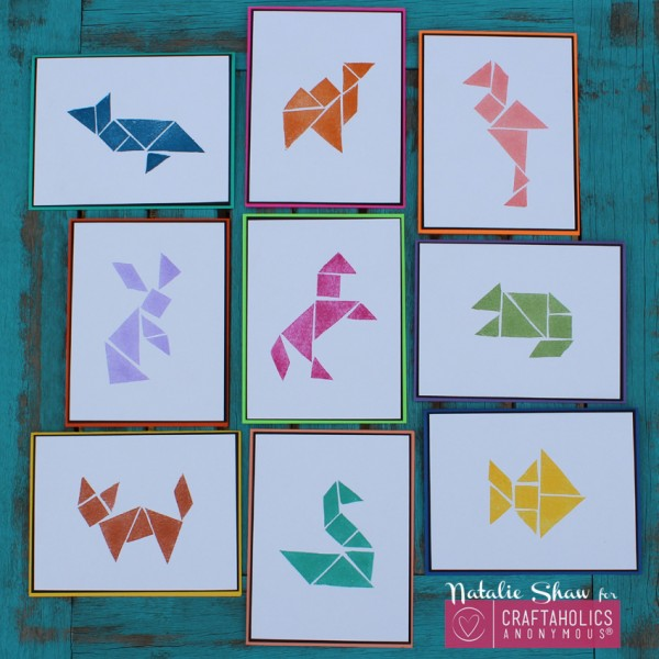 Project: Tangram Stamped Cards