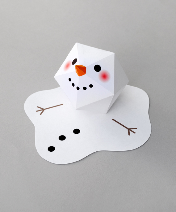 Project and Freebie: Melting Snowman Card
