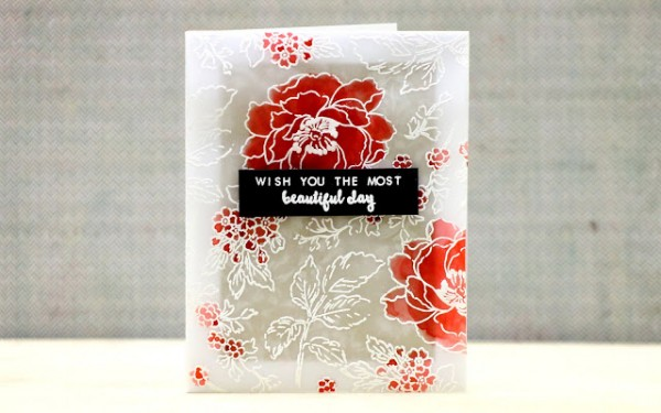 Project: Water Colored Vellum Card