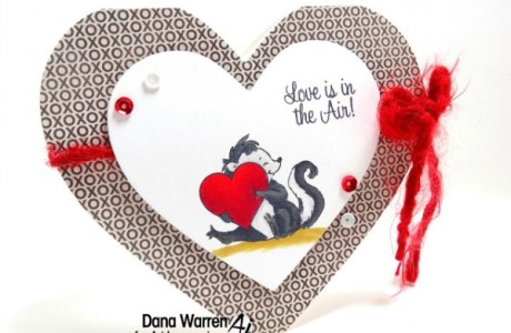 Project: Heart Shaped Skunk Card