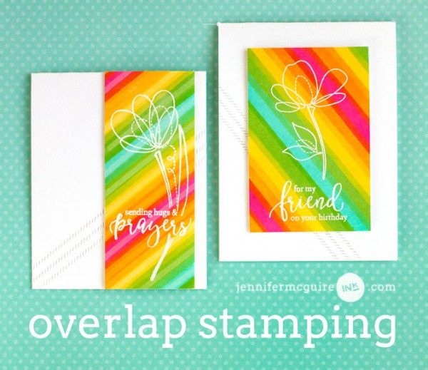 Technique: Overlapping Striped Stamped Card Background