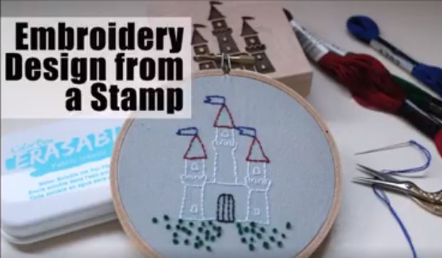 Technique: Turn a Stamp Into Embrodiery