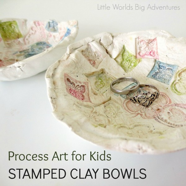 Project: Stamped Clay Bowl Kids Craft