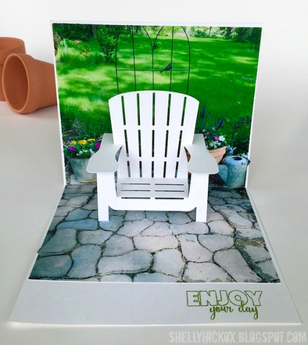 Project: Die Cut Photo Pup Up Card