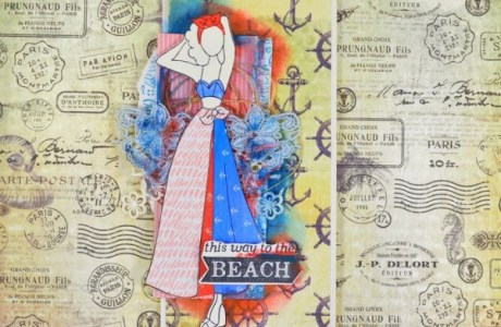 Project: Beach Paper Doll Card
