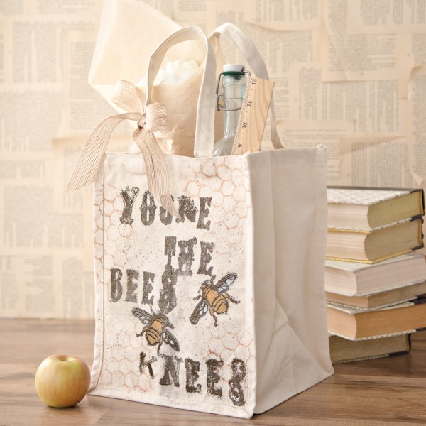 "Project: Stamped ""Bees Knees"" Tote Bag"