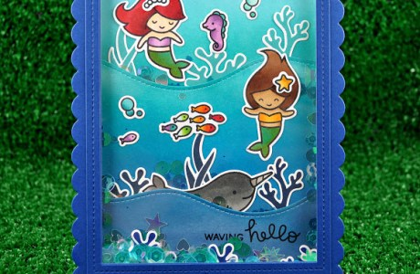 Projects: Three Stamped Mermaid Cards