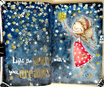 Project and Freebie: Light the Stars Journal Page