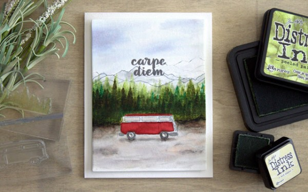 Project: Masculine Card with VW Bug Van