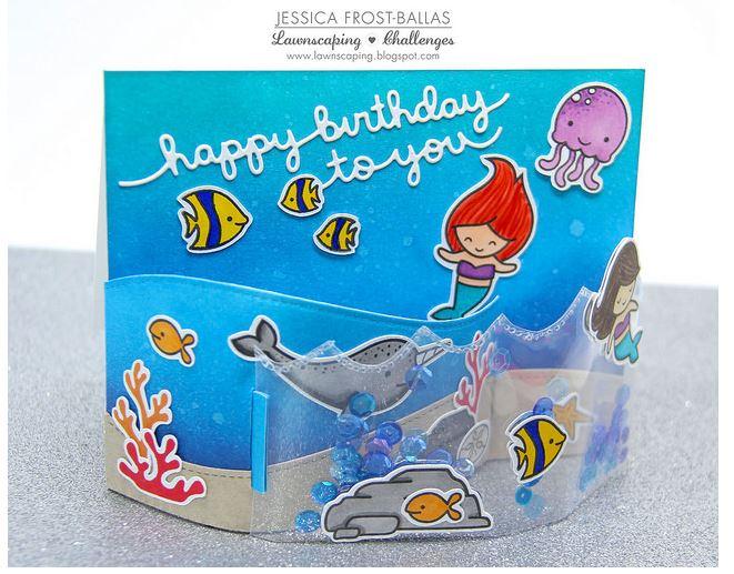 Project: Bendy Shaker Mermaid Card