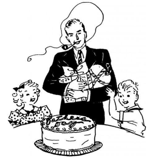 freebie: vintage fathers day