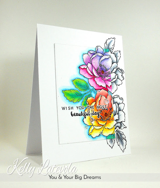 Project: Colored Highlight Floral Card