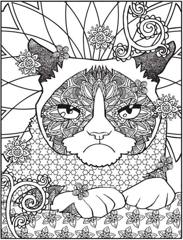 Freebie: Grumpy Cat Coloring Page - Stamping