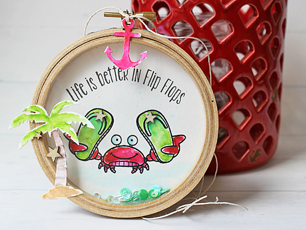 Inspiration: Embroidery Hoop Shaker