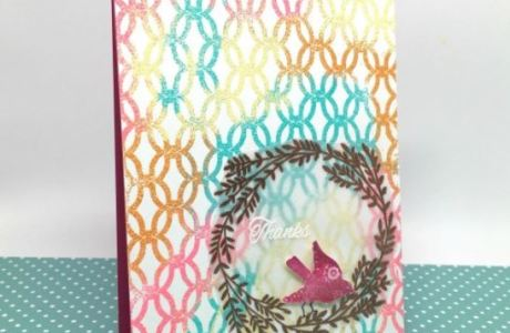 Technique: Multi Colored Heat Embossed Card Background