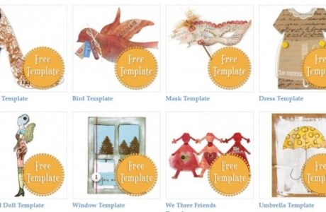 Freebies: 74 FREE Paper Crafting Templates