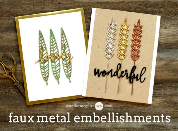 Technique: Faux Metal Embellishments
