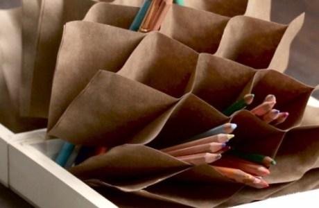 Project: Folded Origami Pencil Organizer