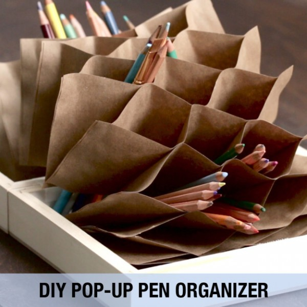 Project: Folded Origami Pencil Organizer