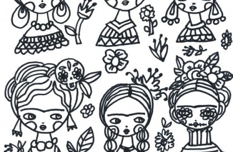 Freebie: Frida Kahlo Coloring Page