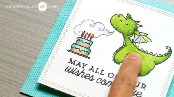 Project Light Up Dragon Birthday Card