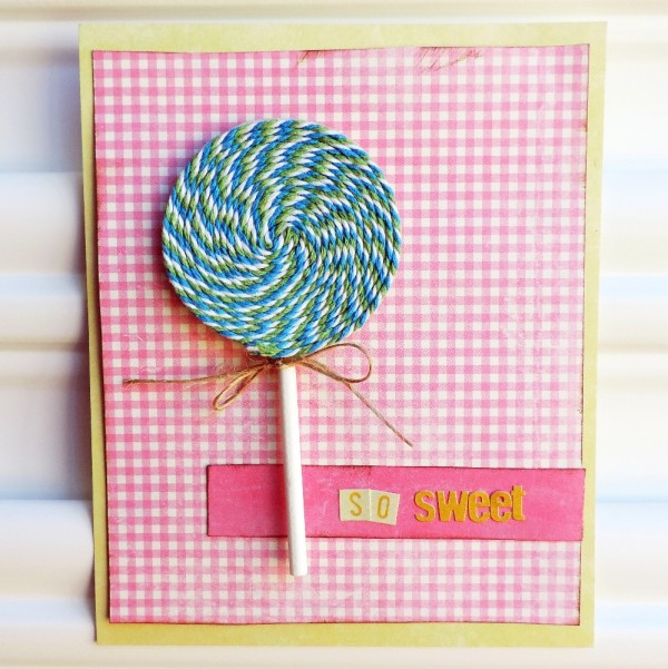 Project: Lollipop Bakers Twine Card