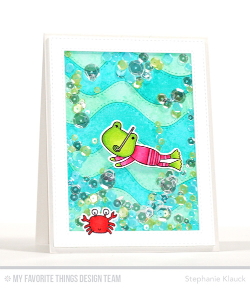 Project: Swimming Frog Shaker Card