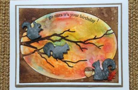 Project: Nutty Squirrels Birthday Card