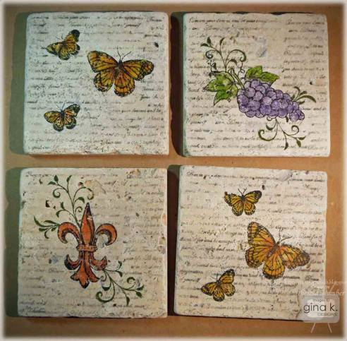 Project Stamped Tile Coasters