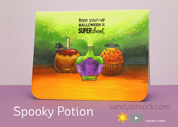 Tutorial: Spooky Potion Card with Copic Marker Coloring