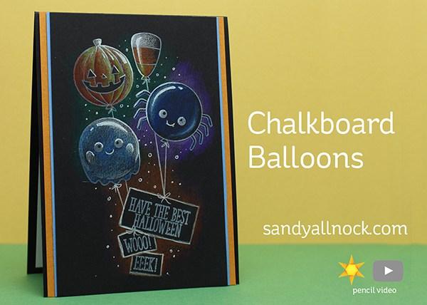 Project Halloween Chalkboard Balloons Card