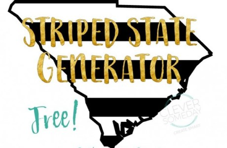 Freebie: Striped State Shape Die Cuts
