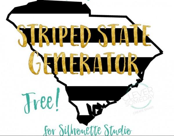 Freebie: Striped State Shape Die Cuts