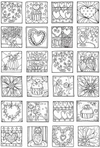 heartscoloringpage  Stamping