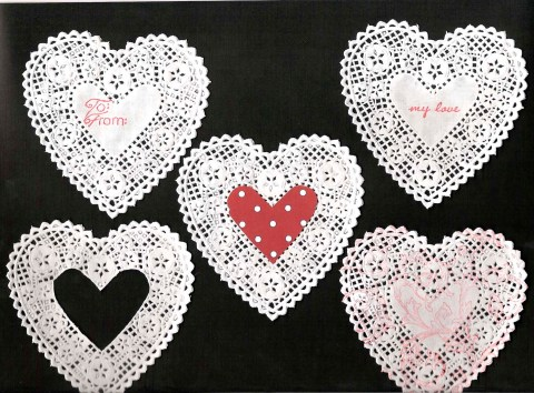 More Ideas For Using Lace In Scrapbooks Valentine Craft Ribbon