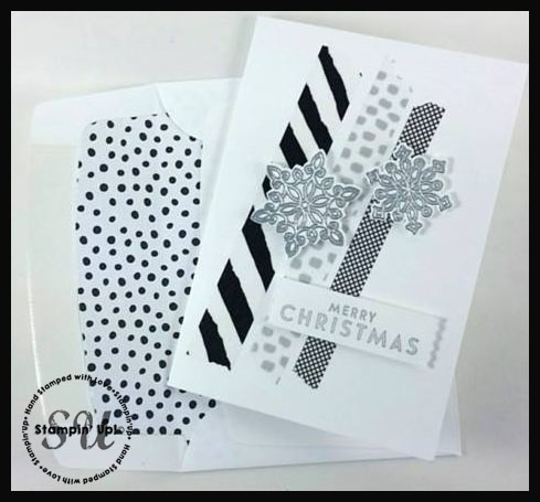 Flurry of Wishes Black  White Christmas Card - christmas cards black and white