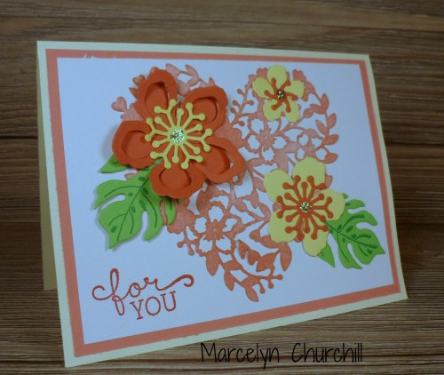 StampinUp Botanical Builder Framelits card made by Marcelyn Churchill. Please see more card and gift ideas at www.StampingMom.com #StampingMom