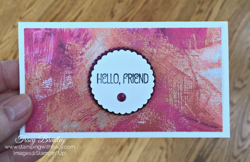 New Narrow Notecards  Envelopes Stamping With Tracy