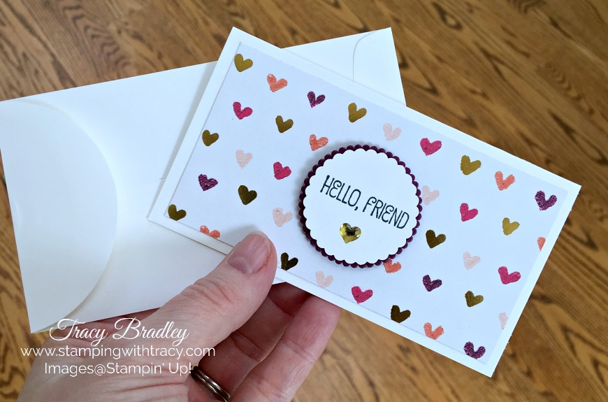 New Narrow Notecards  Envelopes Stamping With Tracy - what size are notecards