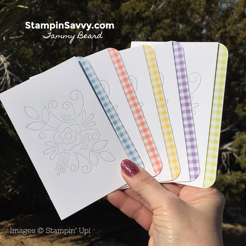 How To Make Simple Note Cards with Needlepoint Elements