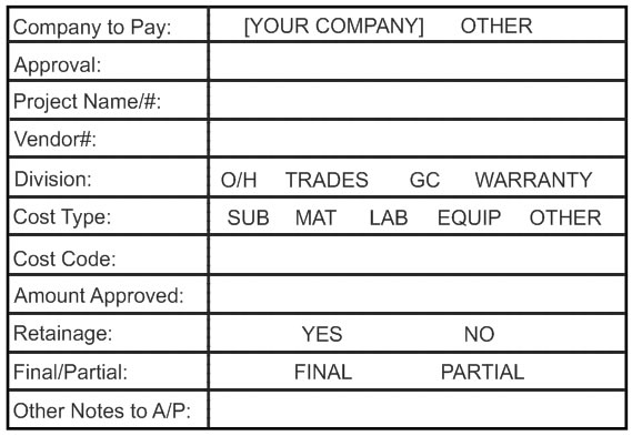 Accounts Payable Stamps Pre-inked