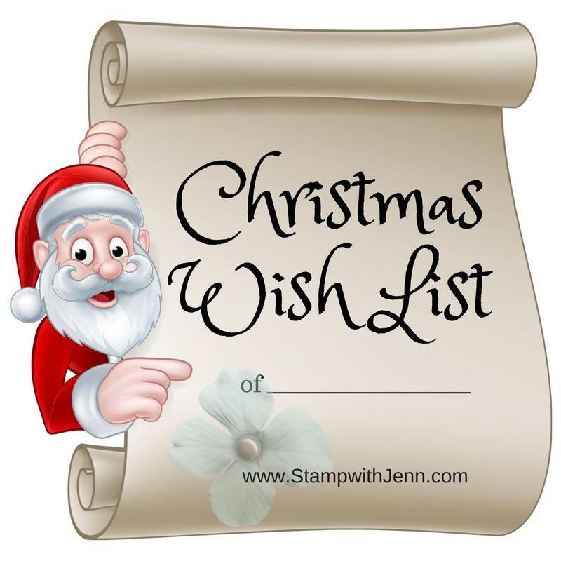 Christmas Wish List Stamp with Jenn - christmas wish list paper