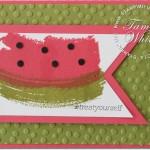 VIDEO: Watermelon Work of Art fun