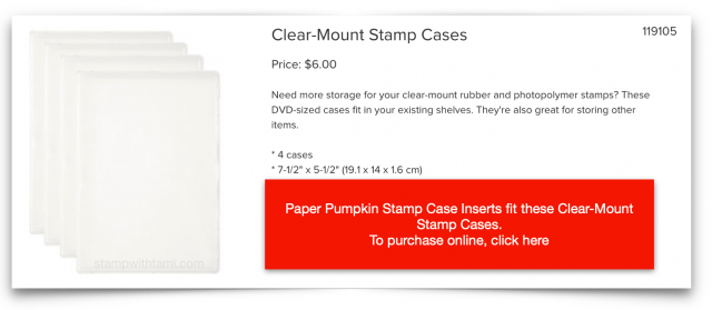 Clear-Mount Stamp Cases