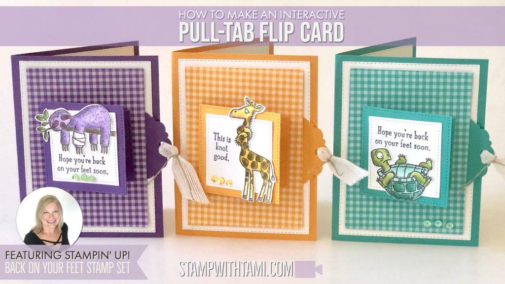 Pull tab flip card