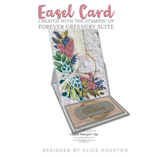 Easel Card from Forever Greenery Suite
