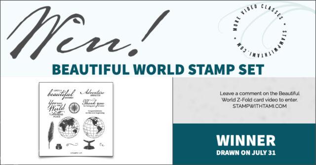 Win a beautiful world stamp set