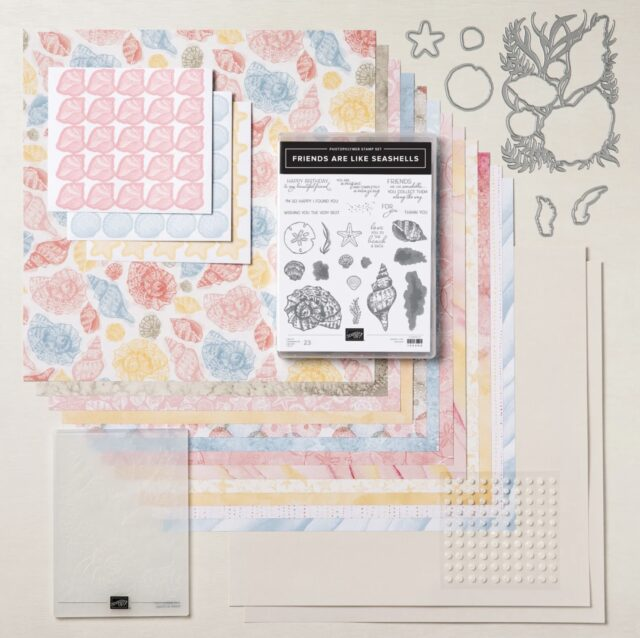 Stampin up Textured Seaside Seashells Card & Tutorial from the Stampin Up Sand & Sea Suite. Download printable instructions.